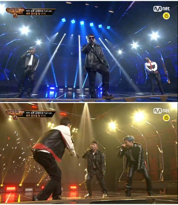 Swings teamed up with Khaki and Raewon at Mnet'Show Me the Money 9'aired on the 20th, making up for the rehearsal mistake and showing a wonderful stage to win./Photo = Mnet'Show Me the Money 9'broadcast capture