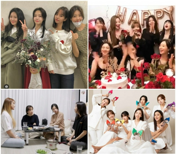 Although scattered, the friendship of girl group members such as Girl's Day, EXID, Girls' Generation, and Rainbow continues./Photo = Mina, Suyeong, Jisook SNS, MBN'Missback' broadcast capture
